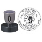 N53 Round California Notary Stamp