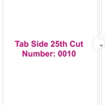 11370 Tab 10 (Side 25th Cut)