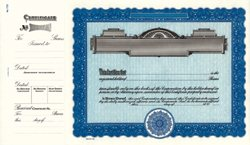 Stock Certificate 720 Custom Printed
