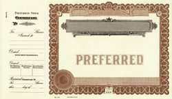 Stock Certificate C6 Custom Printed